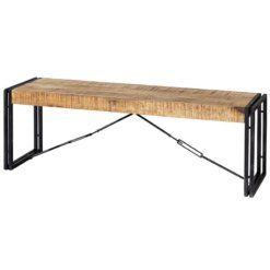 Cosmo Industrial Metal & Wood Bench | Furniture Supplies UK