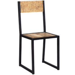 Cosmo Industrial Metal & Wood Dining Chair x1 | Furniture Supplies UK