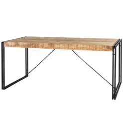 Cosmo Industrial Metal & Wood Dining Table - Large | Furniture Supplies UK