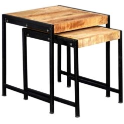 Cosmo Industrial Nest Of 2 Tables | Furniture Supplies UK