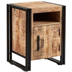 Cosmo Industrial Side Table With Door | Furniture Supplies UK