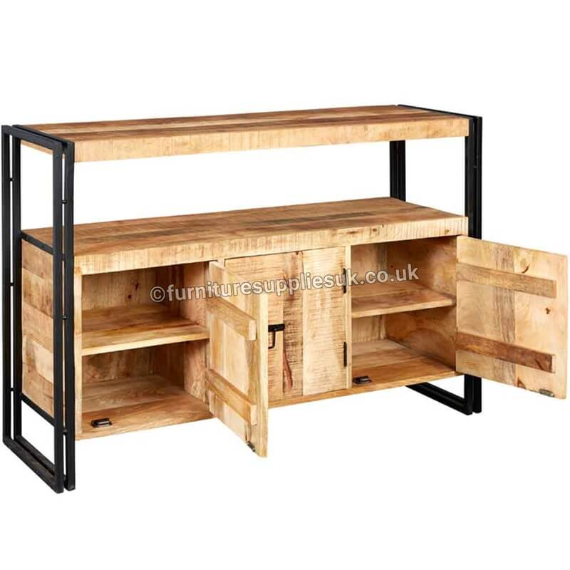 Cosmo Industrial Sideboard | Solid Wood |