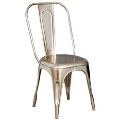 Cosmo Industrial Silver Metal Chair x2 | Furniture Supplies UK