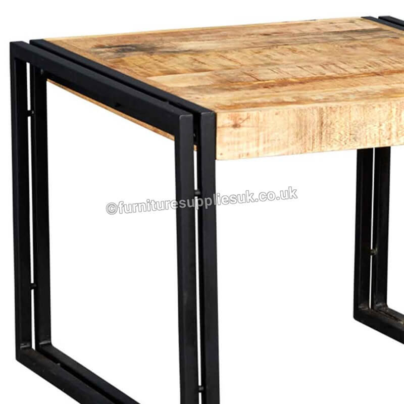 Cosmo Industrial Small Coffee Table | Solid Wood |