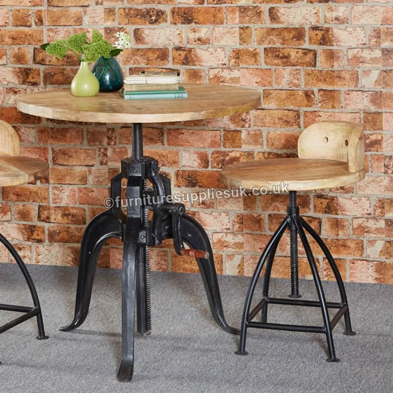 Cosmo Industrial Wooden Chair x2 | Solid Wood |