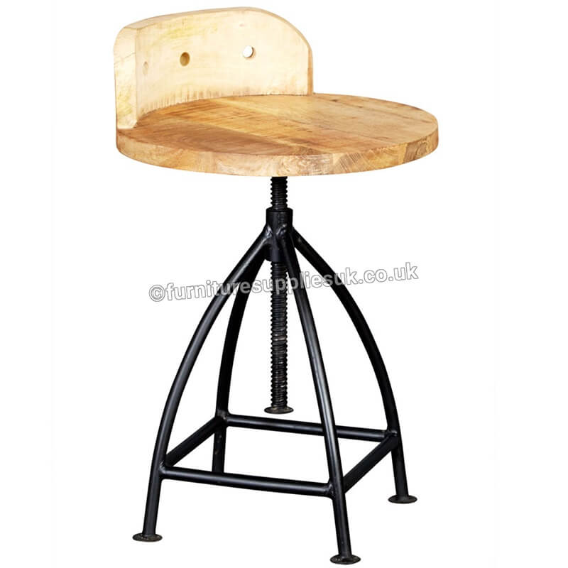 Cosmo Industrial Wooden Chair x2