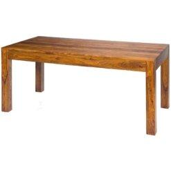 Cube Dining Table Sheesham Wood   Furniture Supplies UK