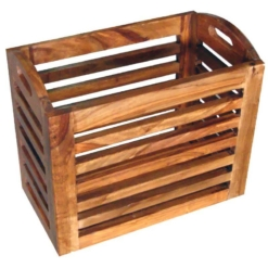 Cube Small Wooden Basket | Furniture Supplies UK