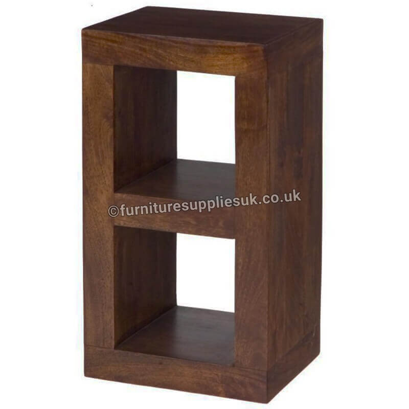 Dakota 2 Hole Cube Lamp Table Display | Solid Wood |