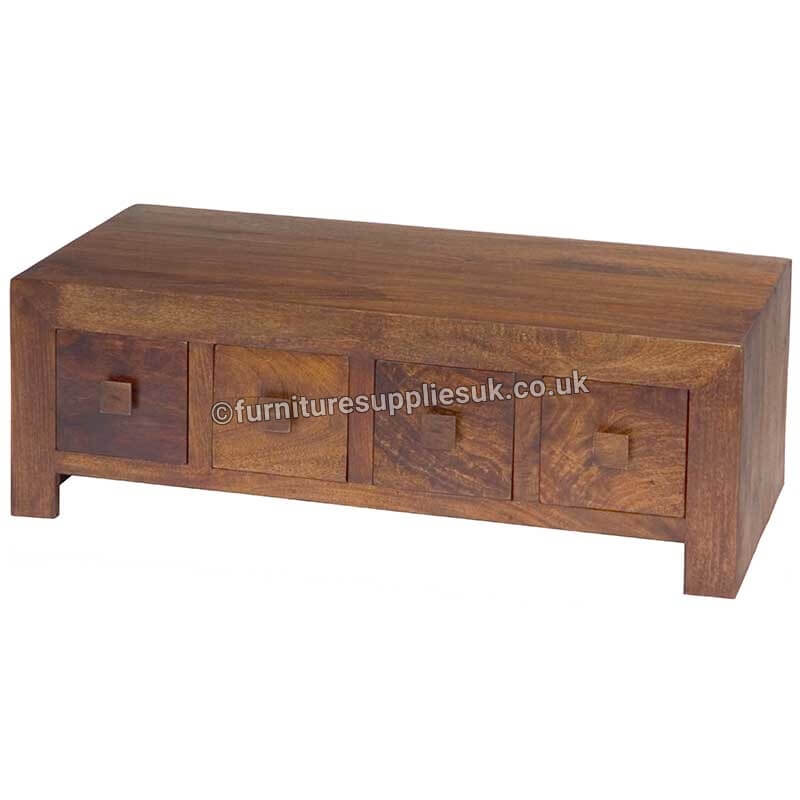 Dakota 8 Drawer Coffee Table | Solid Wood |