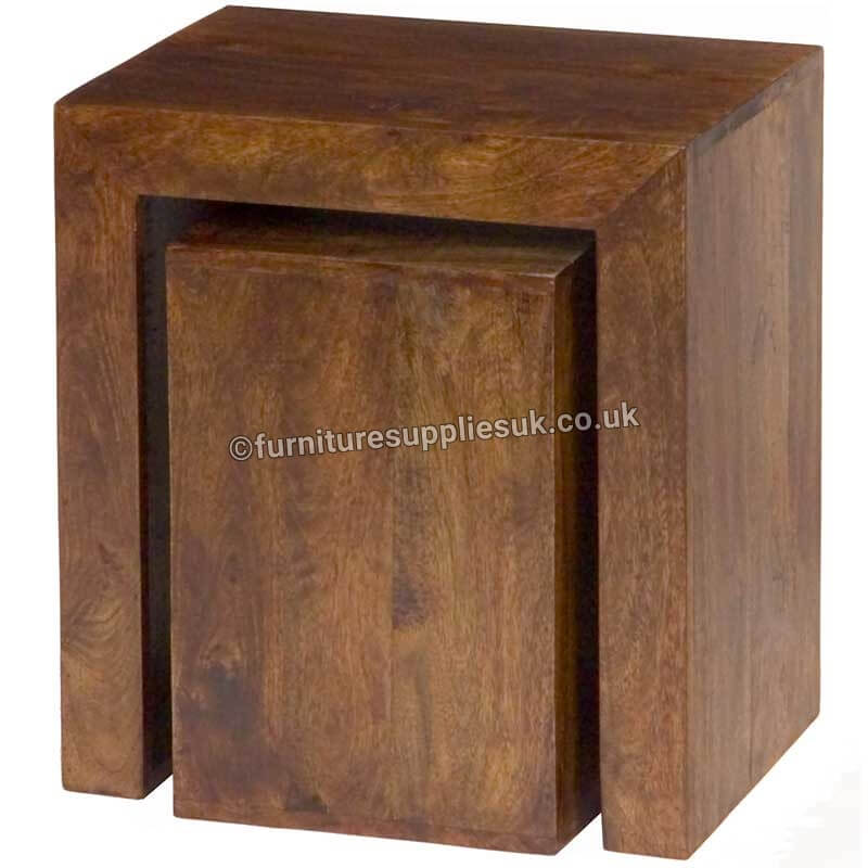 Dakota Cube Nest Tables | Furniture Supplies UK