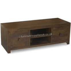 Dakota Dark Mango 150cm Media Centre TV Unit | Furniture Supplies UK