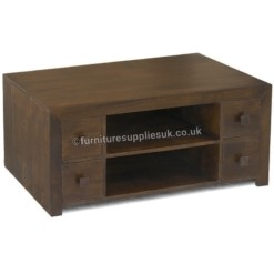 Dakota Dark Mango Plasma Mango TV Unit | Furniture Supplies UK