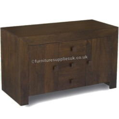 Dakota Dark Mango Sideboard 2 Door 3 Drawer | Furniture Supplies UK