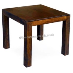 Dakota Dark Mango Square Dining Table 80cm | Furniture Supplies UK