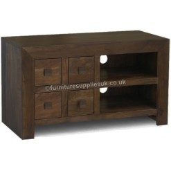 Dakota Dark Mango TV Unit | Furniture Supplies UK