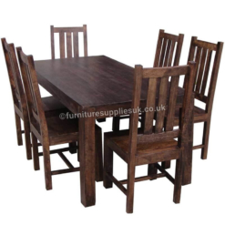 Dakota Large Dining Table With 6 Chairs 175cm | Furniture Supplies UK