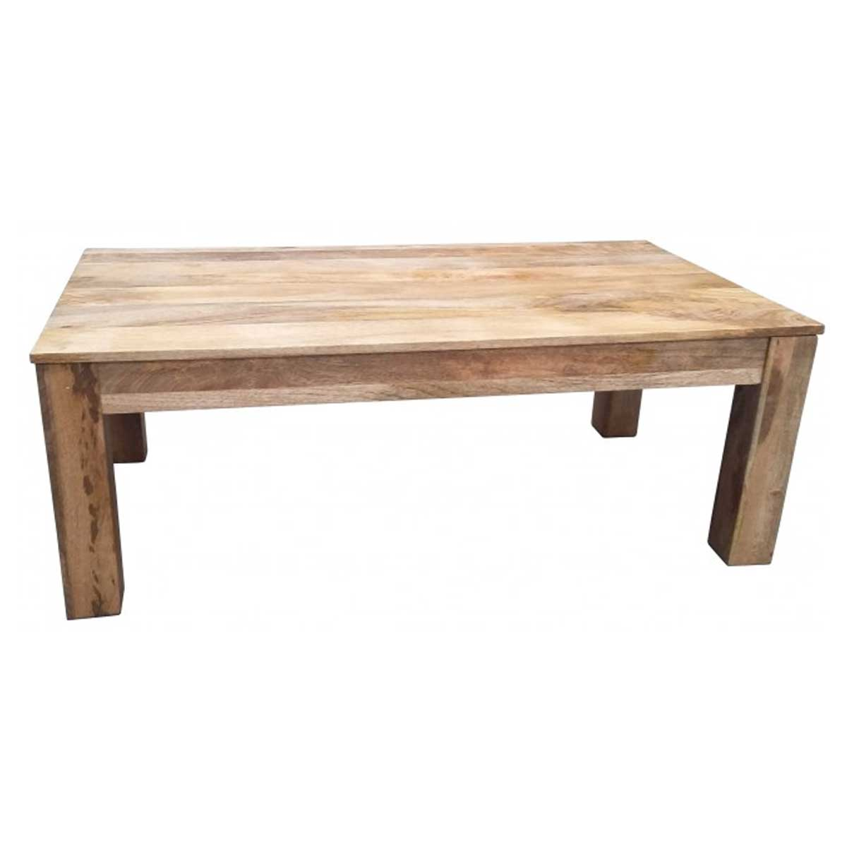 Dakota Light Mango Wood Coffee Table Dlct L