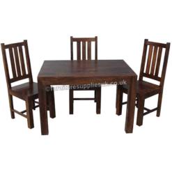 Dakota Small Dining Table With 4 Chairs 120cm | Furniture Supplies UK