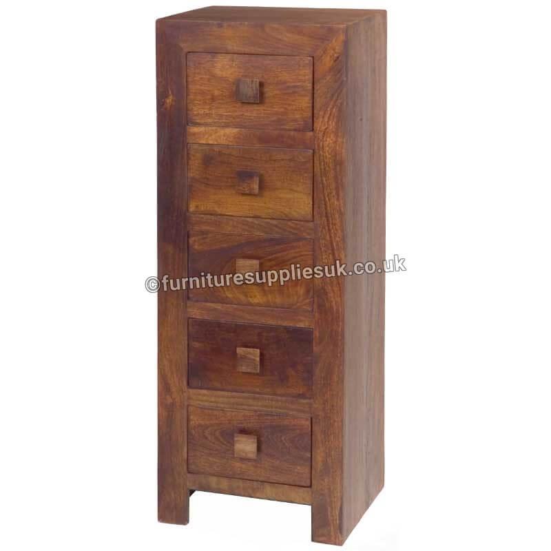 Dakota Tall Boy Chest 5 Drawer | Furniture Supplies UK