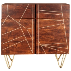 Dark Gold 2 Door Medium Sideboard | Furniture Supplies UK