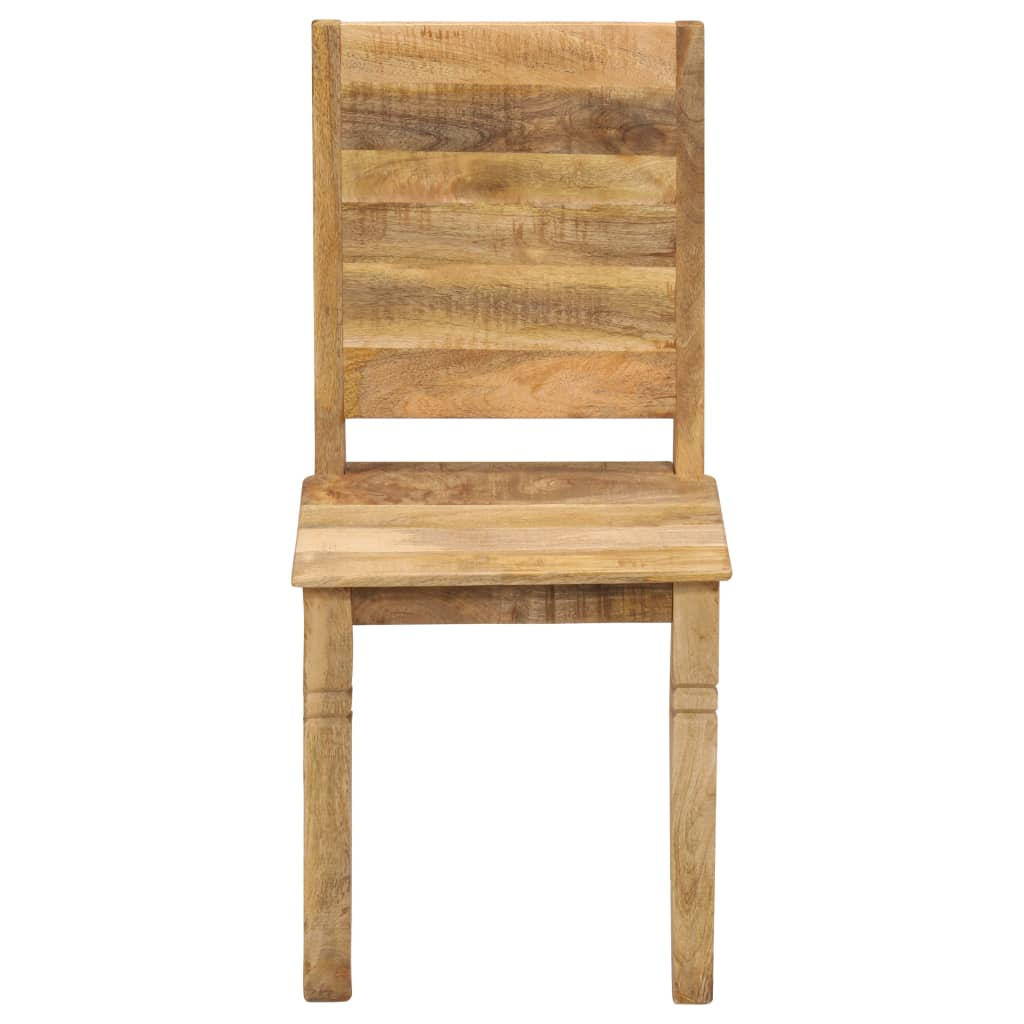 Dining Chairs 2 pcs Solid Mango Wood |  | Brown