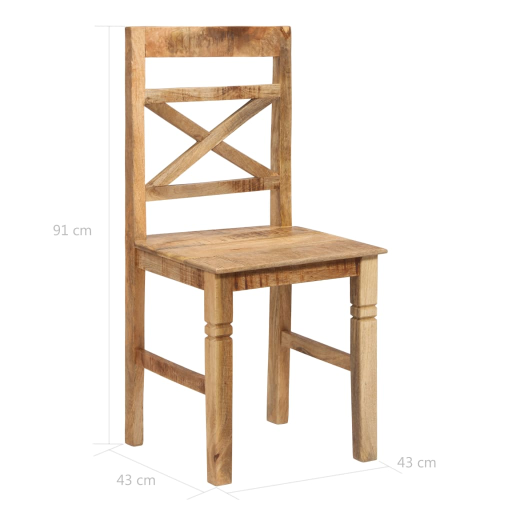 Dining Chairs 4 pcs Solid Mango Wood
