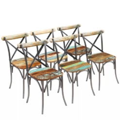 Dining Chairs 6 pcs Solid Reclaimed Wood 51x52x84 cm | Furniture Supplies UK