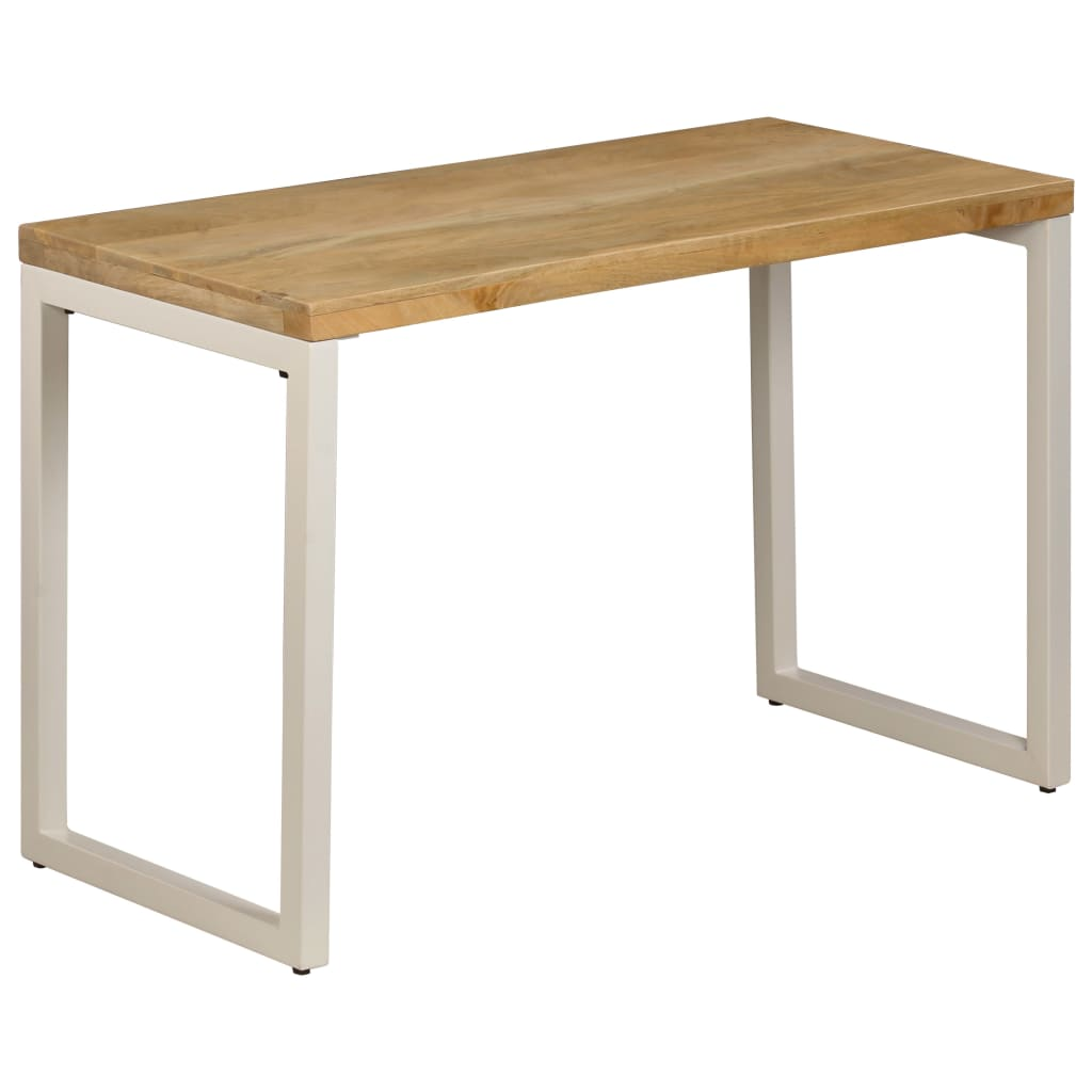 Dining Table 115x55x76 cm Solid Mango Wood and Steel | Furniture Supplies UK