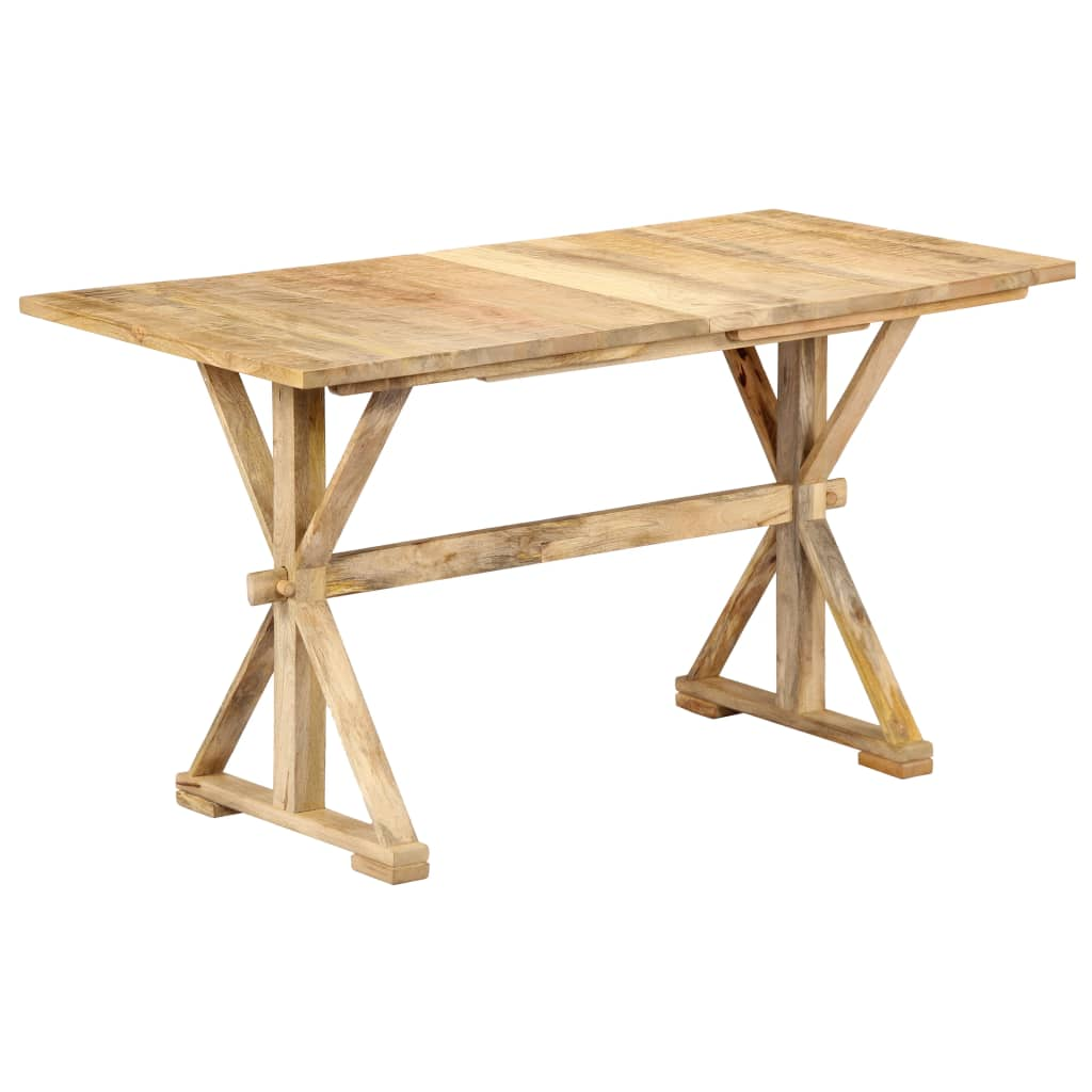 Dining Table 118x58x76 cm Solid Mango Wood | Furniture Supplies UK
