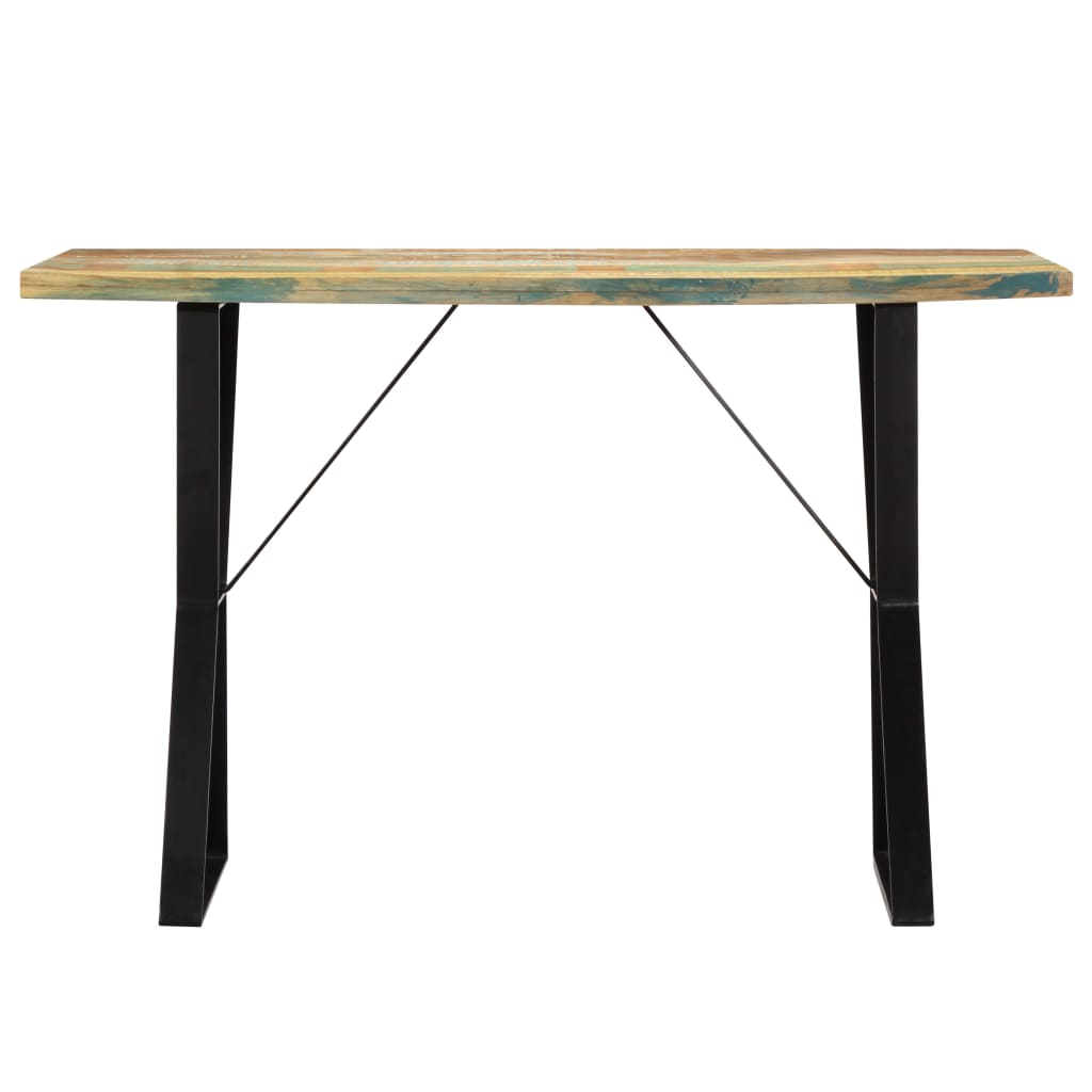 Dining Table 120x60x76 cm Solid Reclaimed Wood      Multicolour