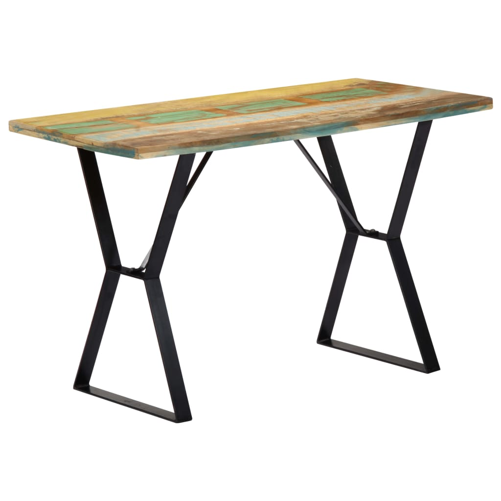Dining Table 120x60x76 cm Solid Reclaimed Wood   Furniture Supplies UK