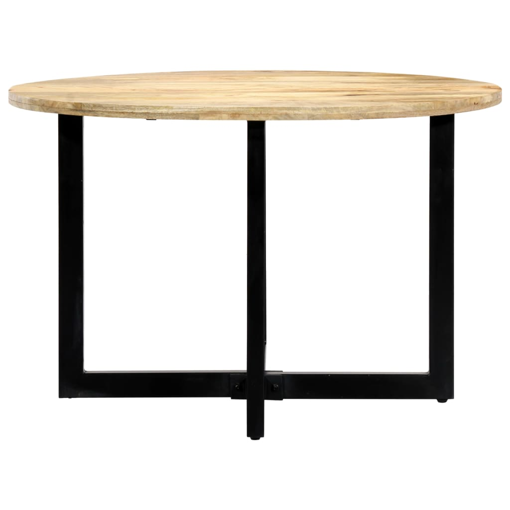 Dining Table 120x73 cm Solid Mango Wood |  | Brown