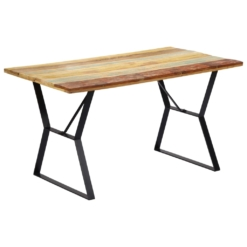 Dining Table 140x80x76 cm Solid Reclaimed Wood | Furniture Supplies UK
