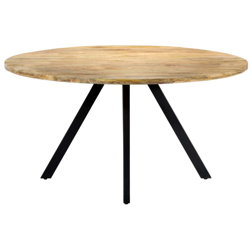 Dining Table 150x73 cm Solid Mango Wood      Brown