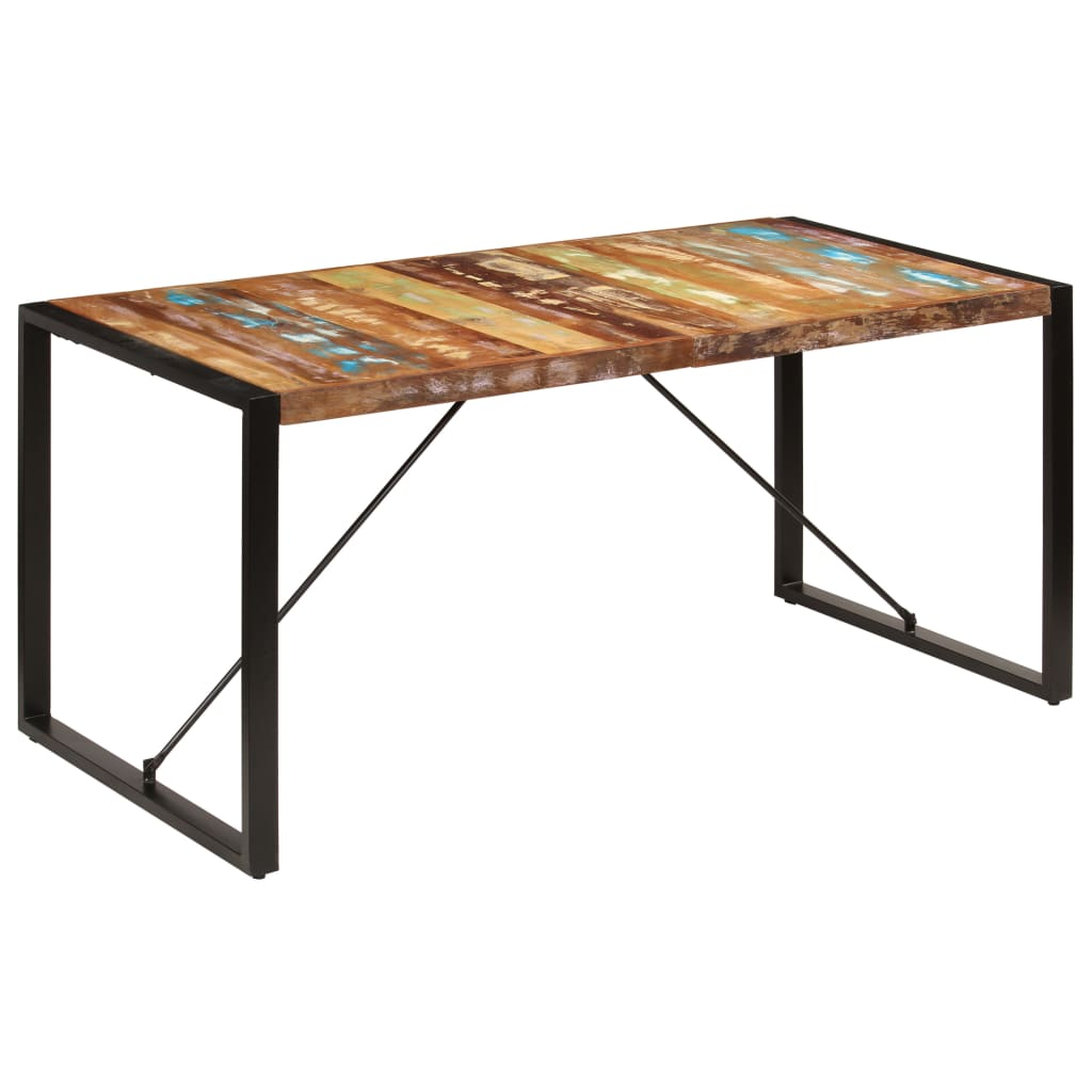 Dining Table 160x80x75 cm Solid Reclaimed Wood | Furniture Supplies UK