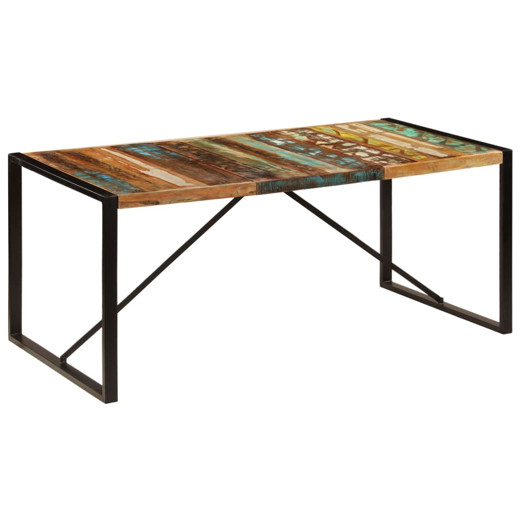 Dining Table 180x90x75 cm Solid Reclaimed Wood | Furniture Supplies UK