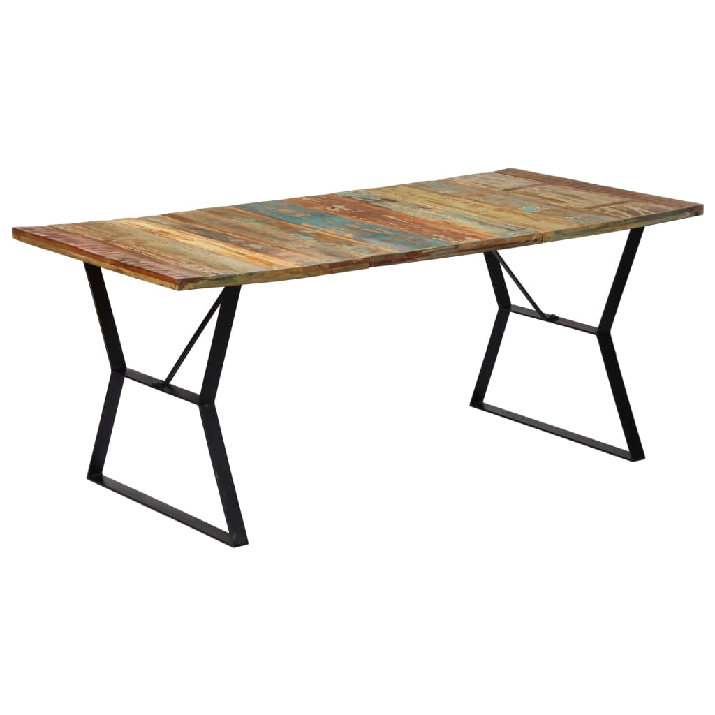 Dining Table 180x90x76 cm Solid Reclaimed Wood | Furniture Supplies UK