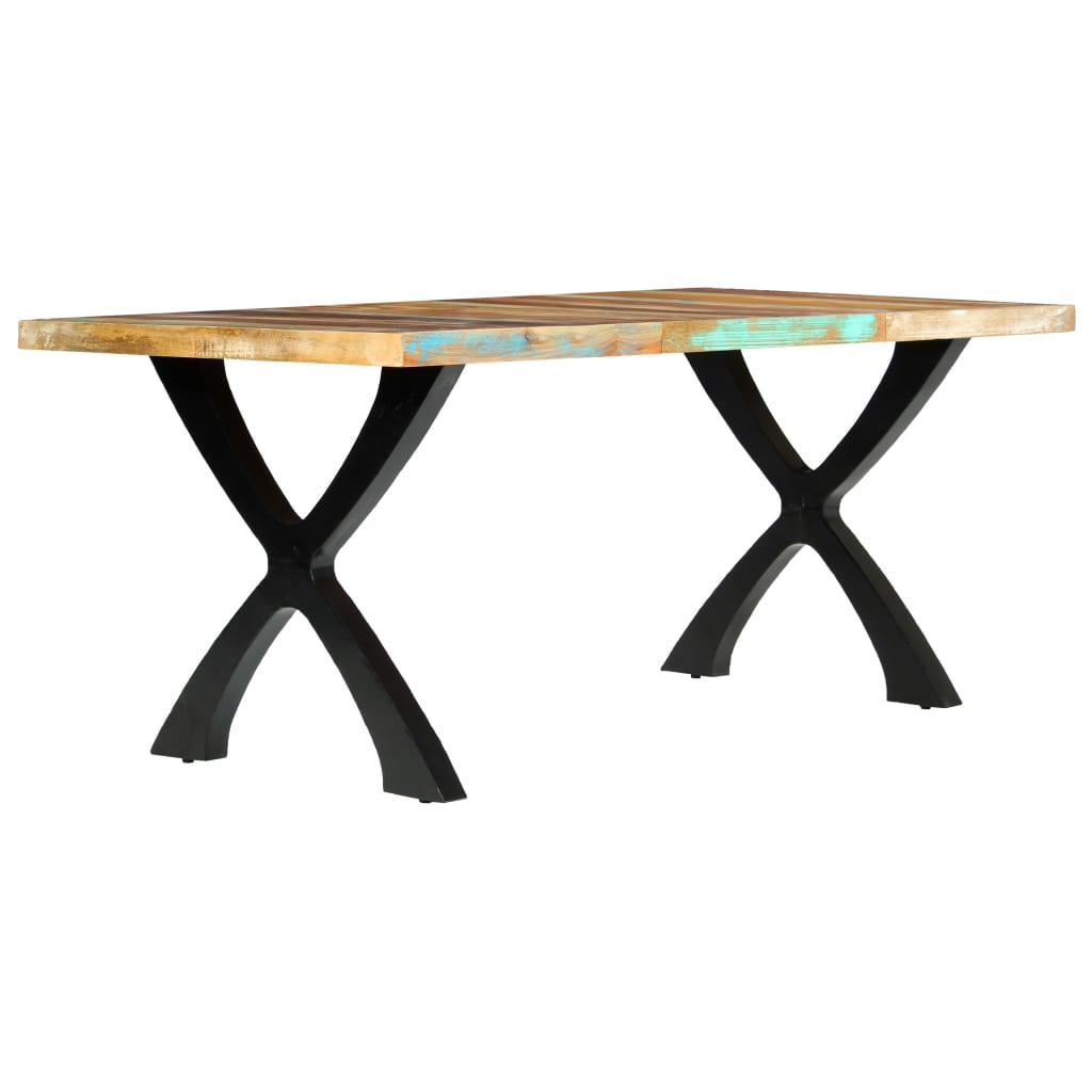 Dining Table 180x90x76 cm Solid Reclaimed Wood      Brown