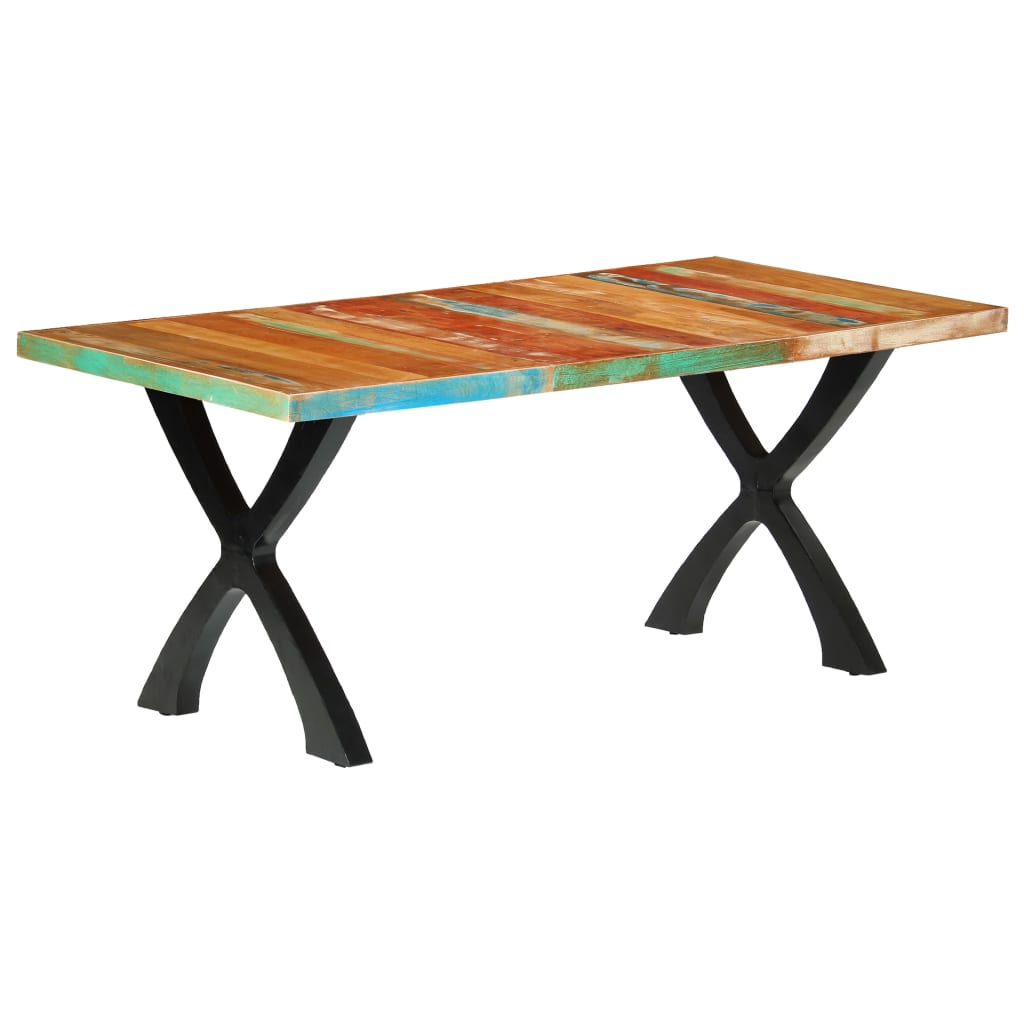 Dining Table 180x90x76 cm Solid Reclaimed Wood   Furniture Supplies UK