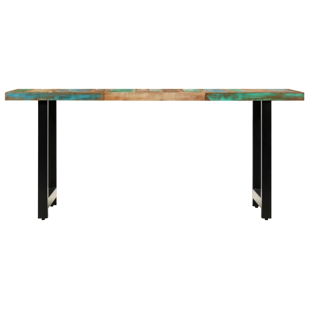 Dining Table 180x90x76 cm Solid Reclaimed Wood |  | Brown