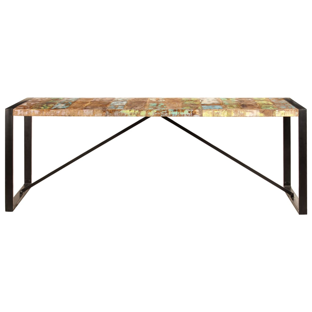 Dining Table 220x100x75 cm Solid Reclaimed Wood |  | Multicolour