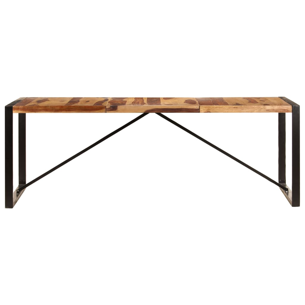 Dining Table 220x100x75 cm Solid Sheesham Wood |  | Brown