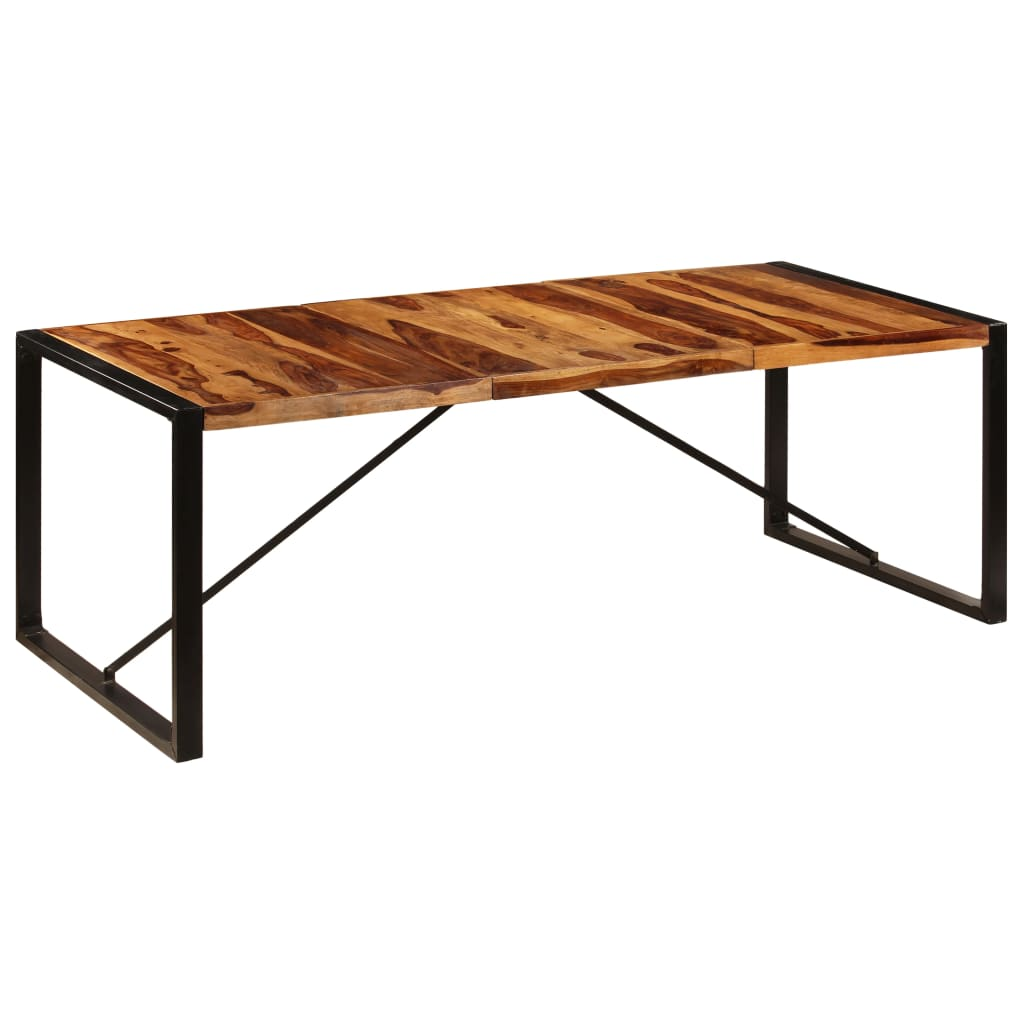 Dining Table 220x100x75 cm Solid Sheesham Wood | Furniture Supplies UK