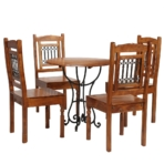 Dining Table Set 5 Piece Solid Acacia Wood With Sheesham Finish Acaciasheesham Wood Furnituresuppliesuk 275336[1]