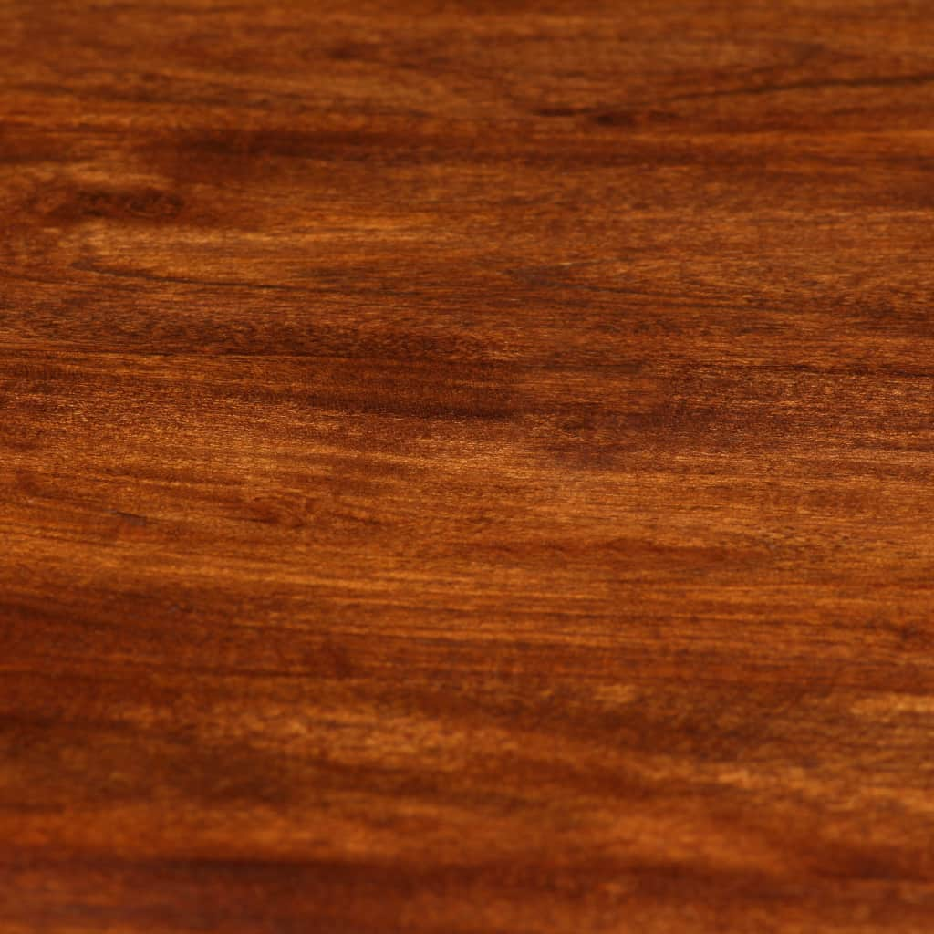 Dining Table Solid Acacia Wood with Sheesham Finish 80x76 cm |  | Brown