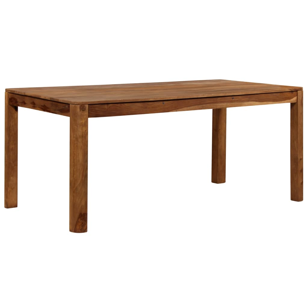 Dining Table Solid Sheesham Wood 180x90x76 cm      Brown