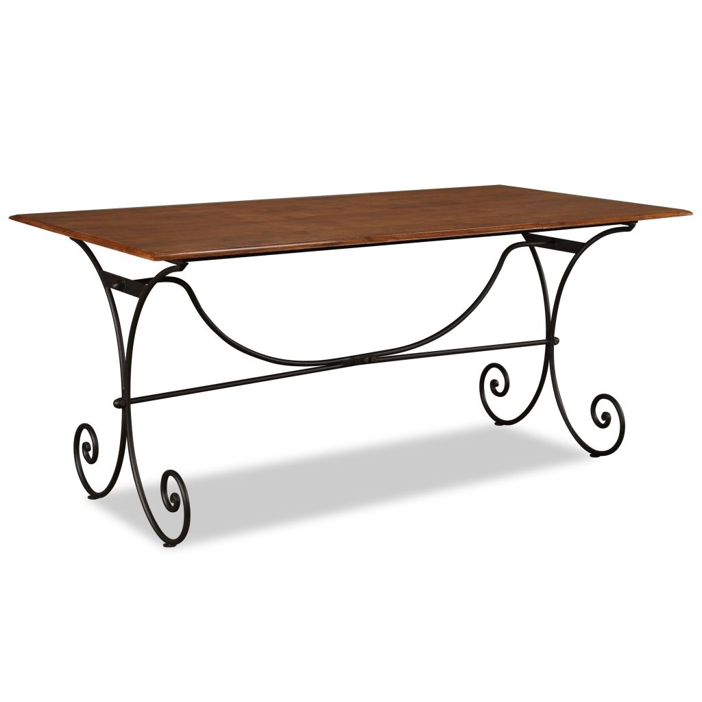 Dining Table Solid Wood with Sheesham Finish 180x90x76 cm | Furniture Supplies UK