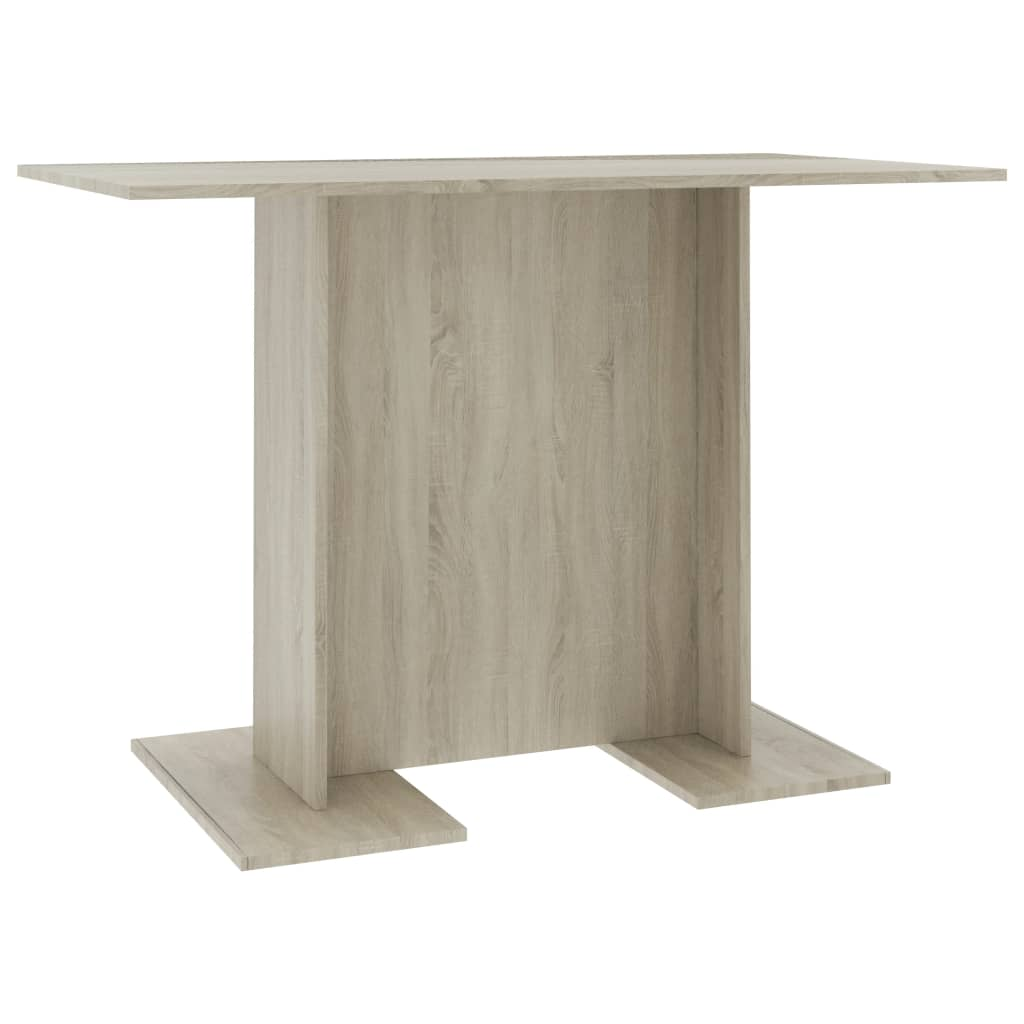 Dining Table Sonoma Oak 110x60x75 cm Chipboard |  | Brown