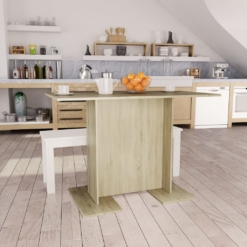 Dining Table Sonoma Oak 110x60x75 cm Chipboard | Furniture Supplies UK